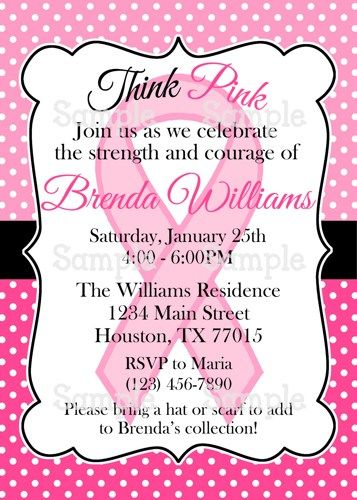 Printable Pink Ribbon Breast Cancer Awareness Party