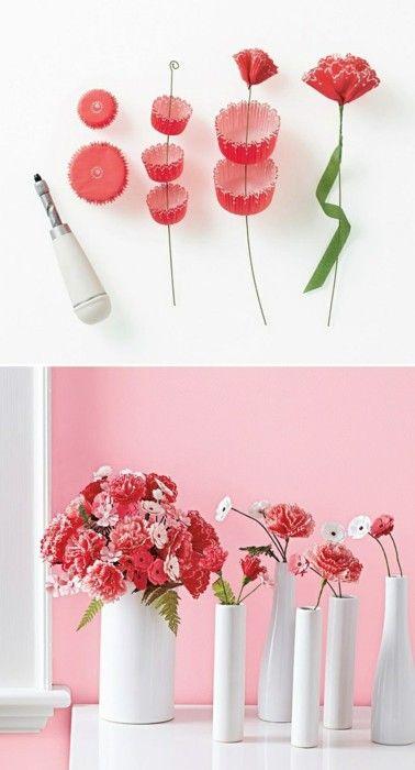 Cupcake Liner Flowers.