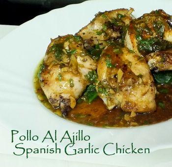 Garlic Chicken – Pollo al Ajillo – Spanish Recipe With Lemon and Aromatic Herbs.