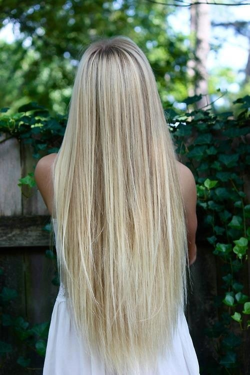 Long Blonde Hair Natural Look Highlights And Lowlights