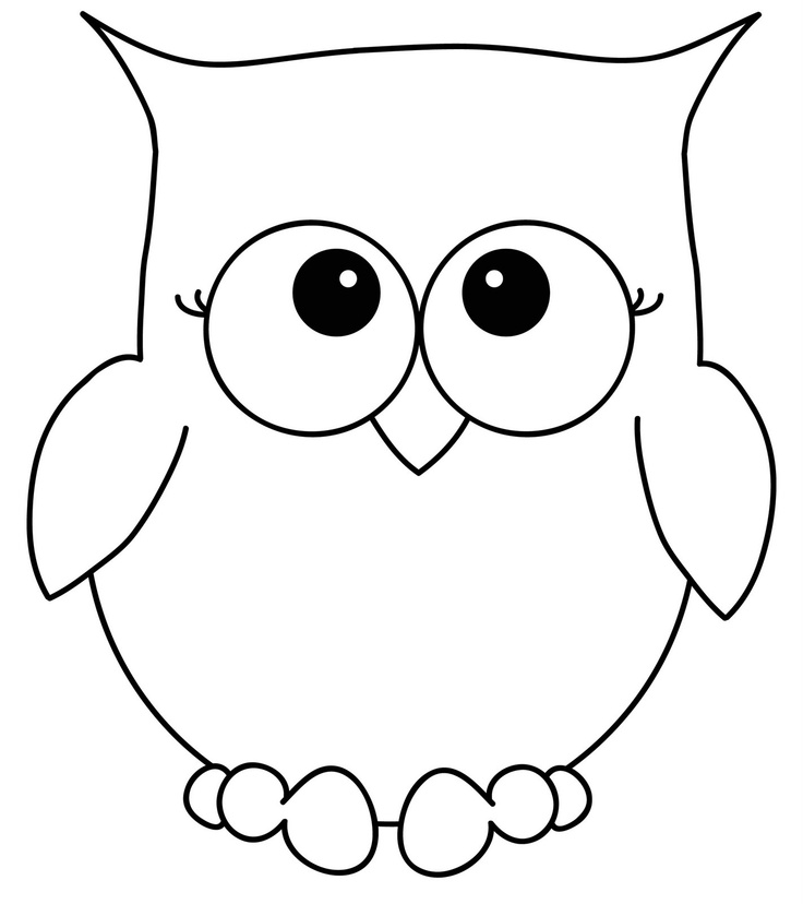coloring owl and simple on pinterest