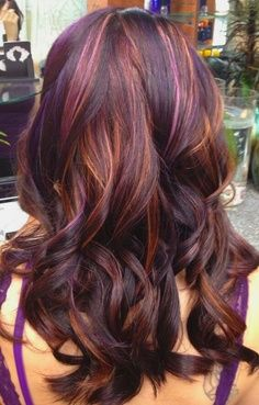 fall 2013 hair trends purple highlights what i want and purple