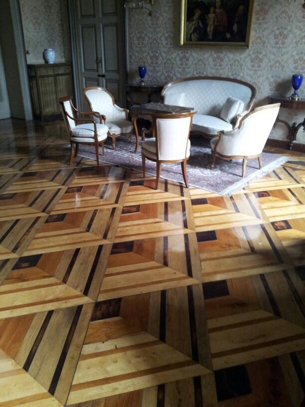 3d Flooring wood, Bergamo prefettura palace. 3d flooring