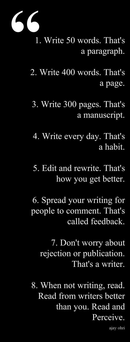 Writing advice // funny pic