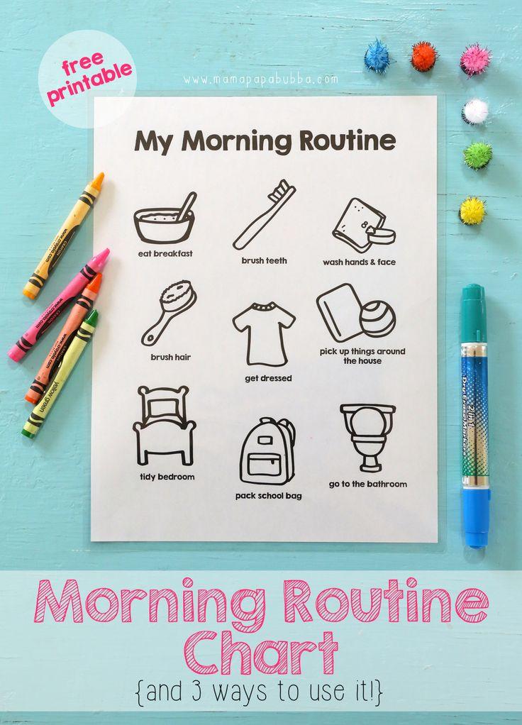 Printable Morning Routine Chart Mama.Papa.Bubba