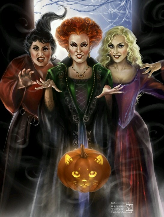Hocus Pocus cartoon... Witches... Pinterest