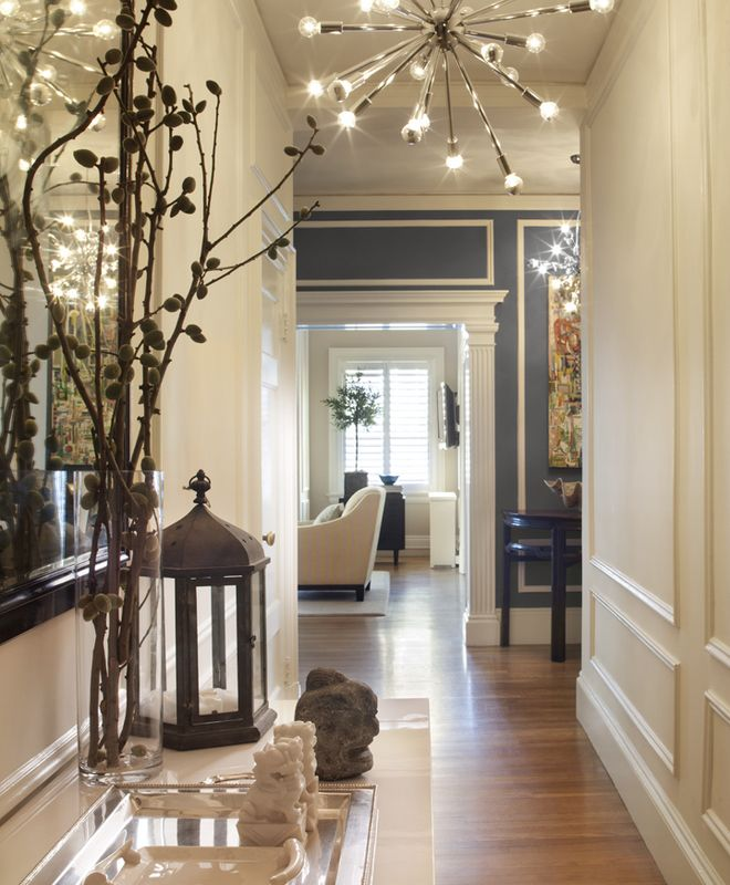 Transitional Foyer Hallway Anyon Design Dering Hall