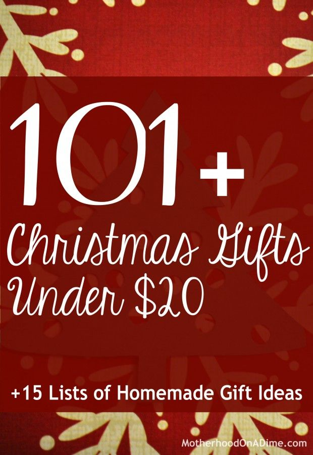 101 Christmas gift ideas for under $20 + DIY Christmas gift ideas + gifts with a