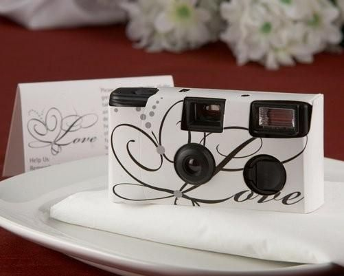 Love Disposable Wedding Camera with Table Card (White) -Nice for the reception t