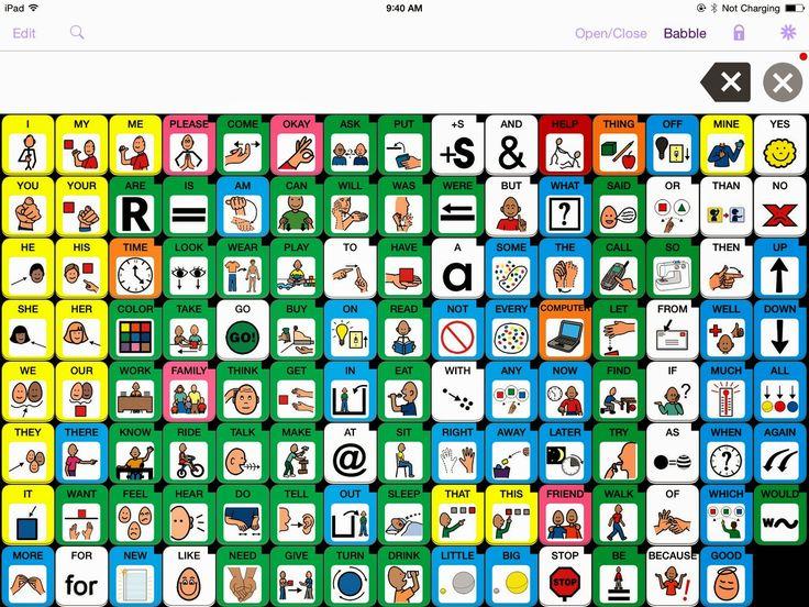 Speak for Yourself AAC app PECS cards (boardmaker symbols