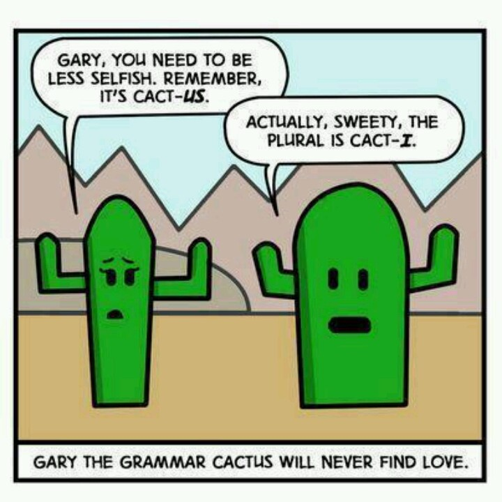 I would love this.... ) hooray for grammar jokes