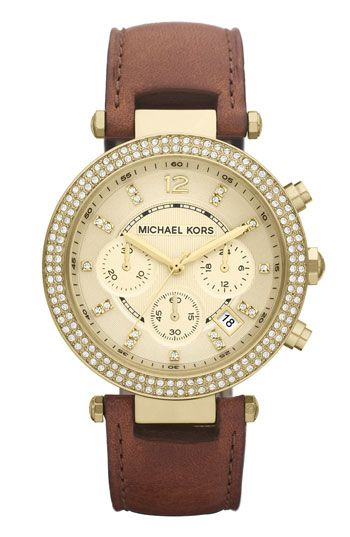 Michael Kors 'Parker' Chronograph Leather Watch | Nordstrom