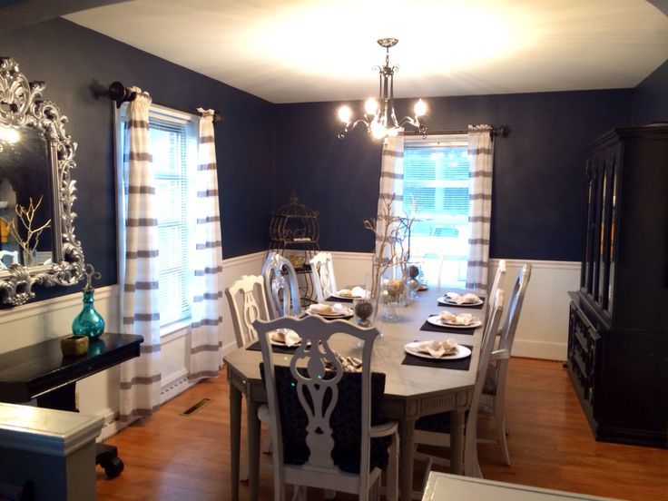 My Navy Dining Room! The Color Is Hale Navy By Benjamin