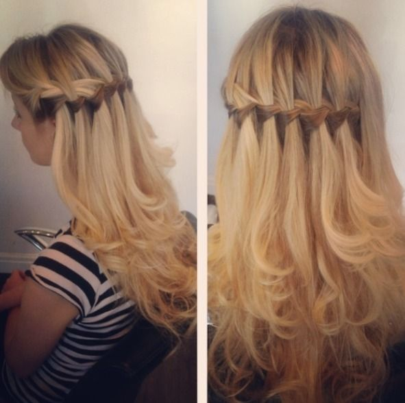 1000 Ideas About Waterfall Plait On Pinterest Braided