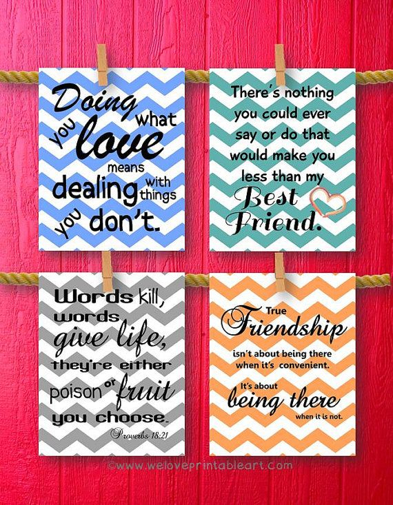 Gift for Best Friend Quote Printable Art by