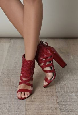 red strappy perfect for Valentines day!