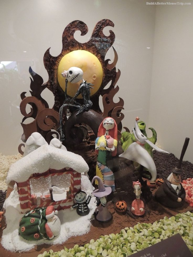 Nightmare Before Christmas themed chocolate sculpture at