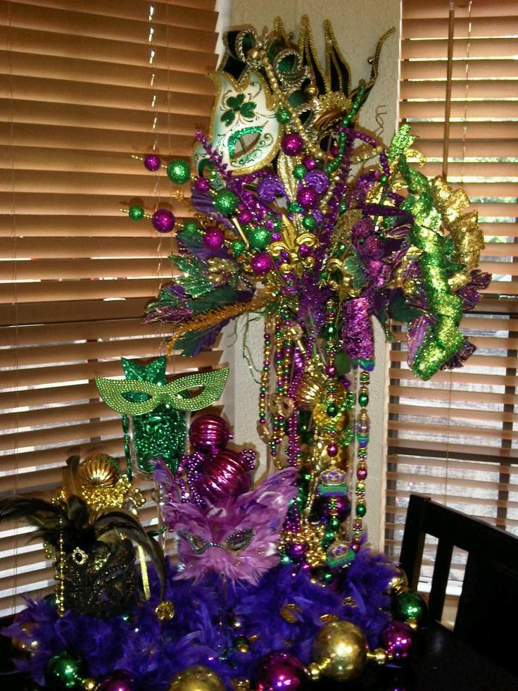 Mardi Gras Centerpiece Party Decorations Pinterest