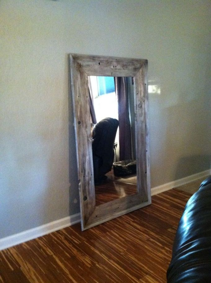 Diy Distressed Wood Mirror Frame | Frameviewjdi.org