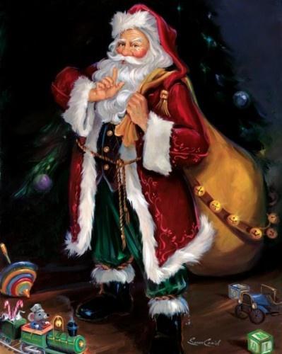 1000 Images About Santa On Pinterest Christmas Art