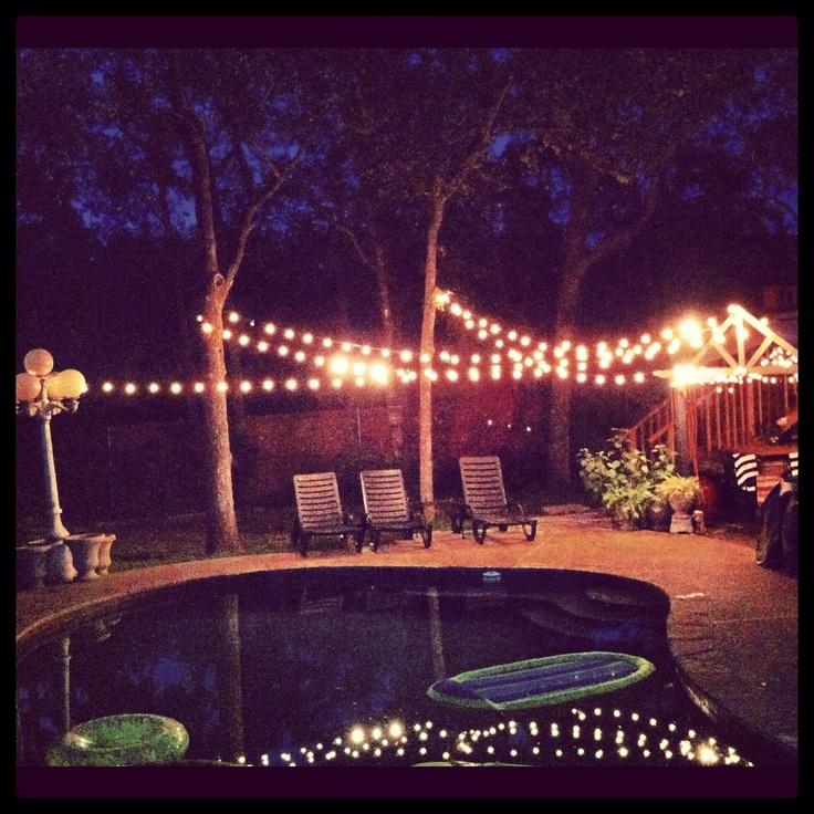 backyard party lights. Outdoor/exterior ideas