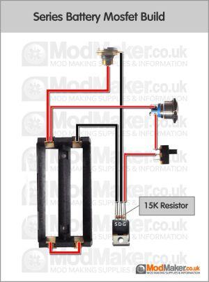 Series Battery Mosfet Wiring Diagram | box mods | Pinterest