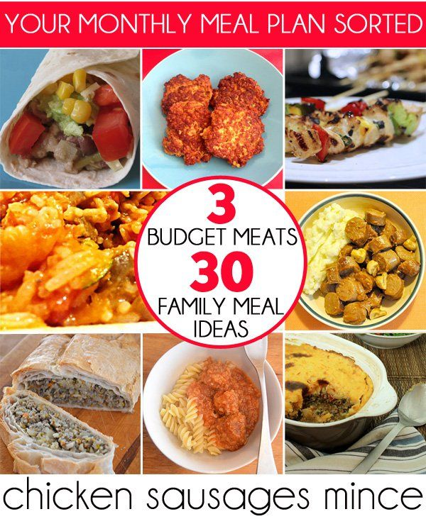 3 Budget Meats + 30 Family Meal Ideas Pretty tight