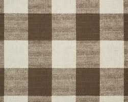 Large Scale Brown Buffalo Check Fabric Fabrics