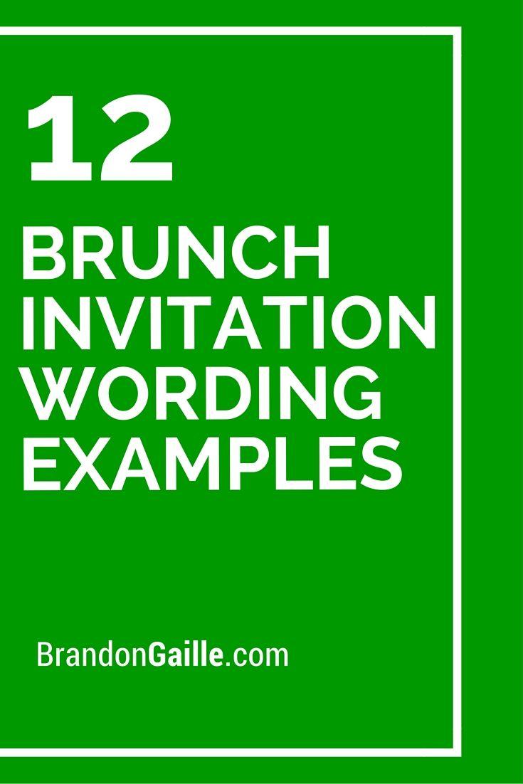 12 Brunch Invitation Wording Examples Invitation Wording