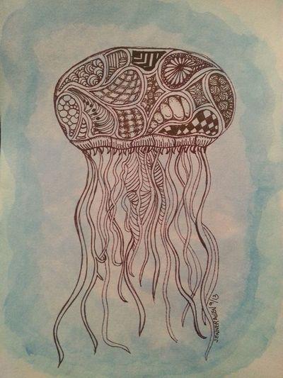 99 Best Images About Zentangles Ocean On Pinterest