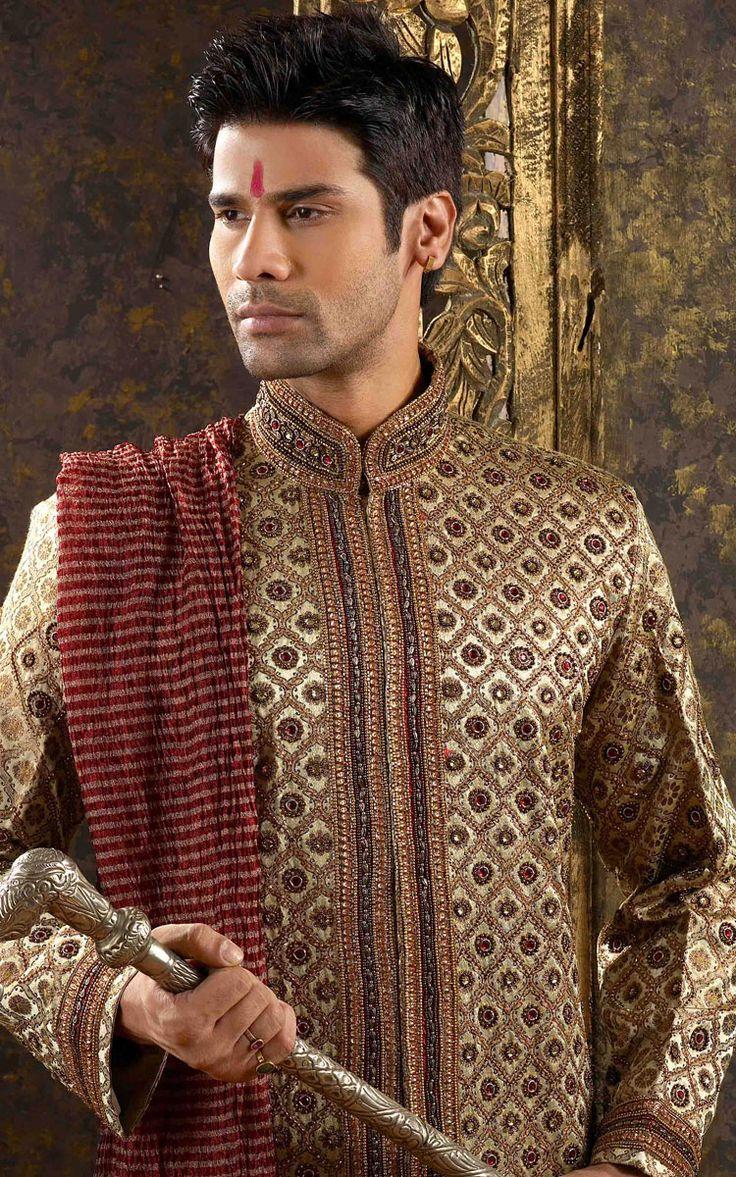 Sherwani is the best attire for men on their wedding.it