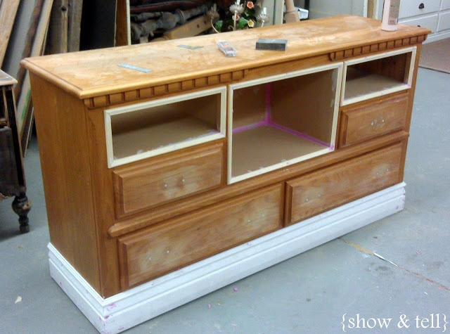 {Before  After} – dresser turned TV console | Sweet Pickins Furniture
