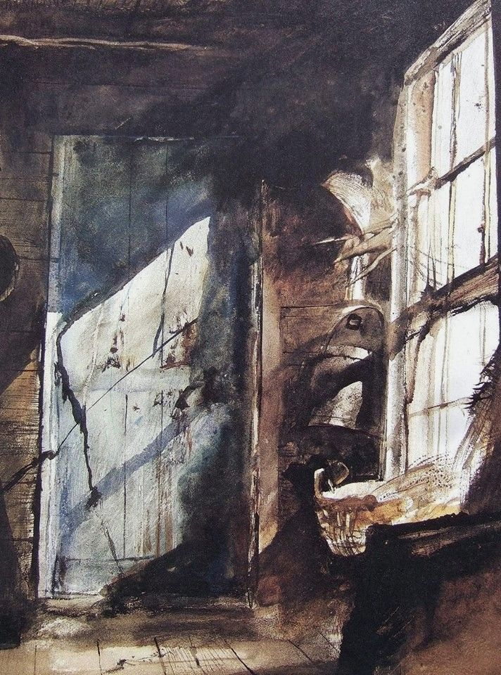 Andrew Wyeth 1917 2009 USA Blue Door 1952 Watercolor