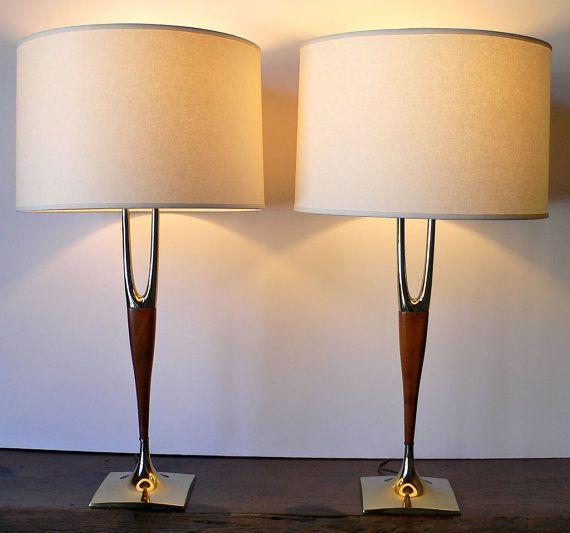 vintage mid century modern ceramic lamps