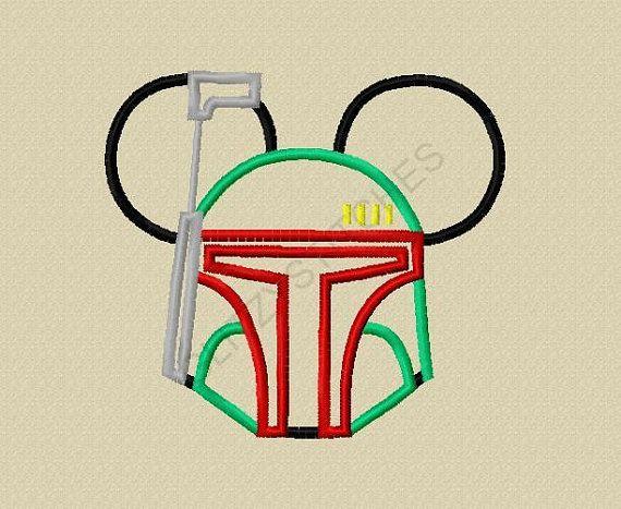 Star Wars Applique Design Minnie
