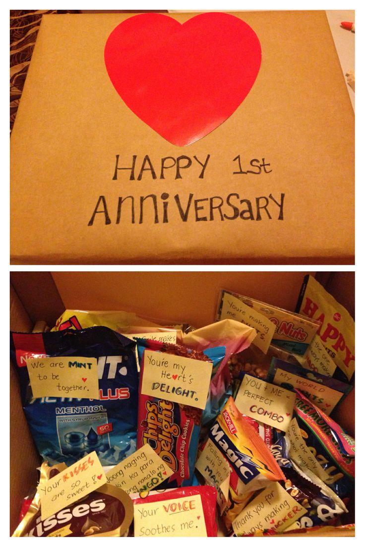 My First Anniversary Gift to my boyfriend. Sweet