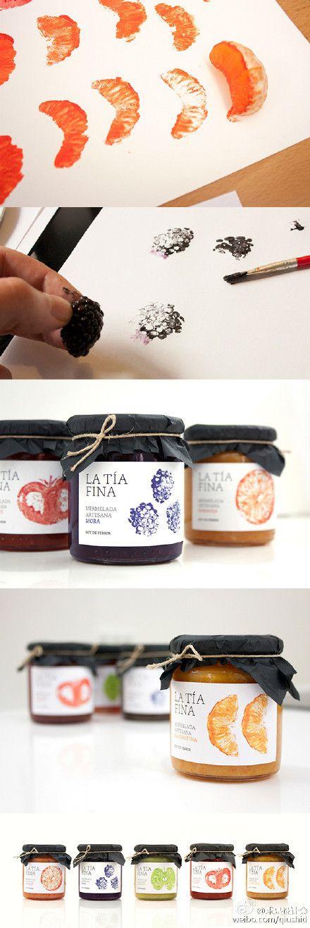 label / jam / La Tía Fina www.behance.net/…