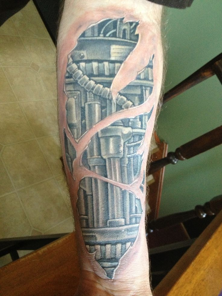 Mechanical arm tattoo ) Crazy Beautiful Life