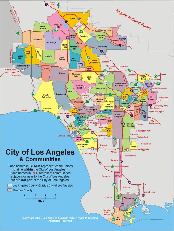 The odd creature that is Los Angeles (neighborhood map