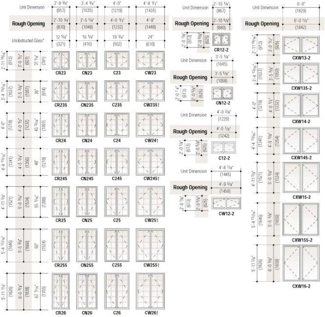 Superb Interior Door Size Chart 8 Standard Cat Window Sizes