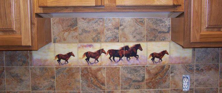 Horse Decorated Kitchen Horse Murals Kitchen Tile