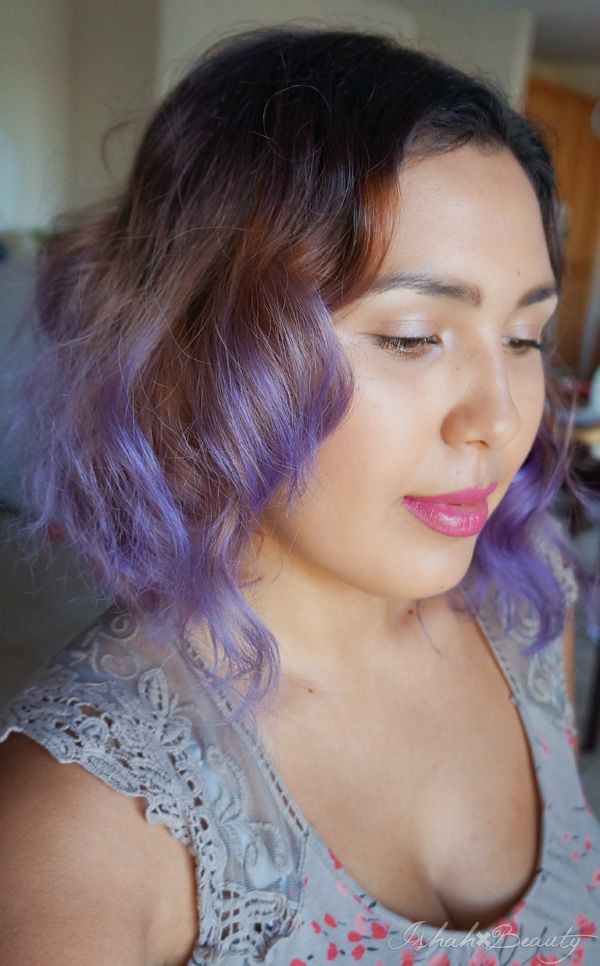 Ishah X Beauty Brown To Purple Ombre Hair Using ION Color
