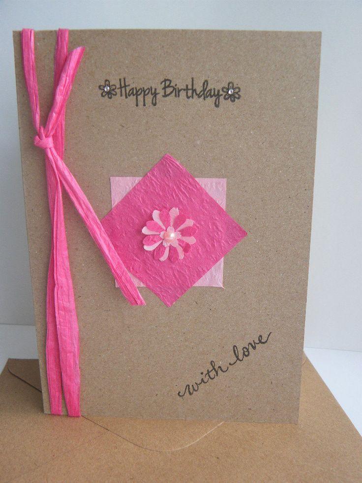 Handmade Birthday Card for Mum Daughter Sister Nan Gran