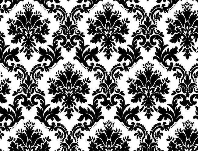 White Black White Floral Background Wallpapers