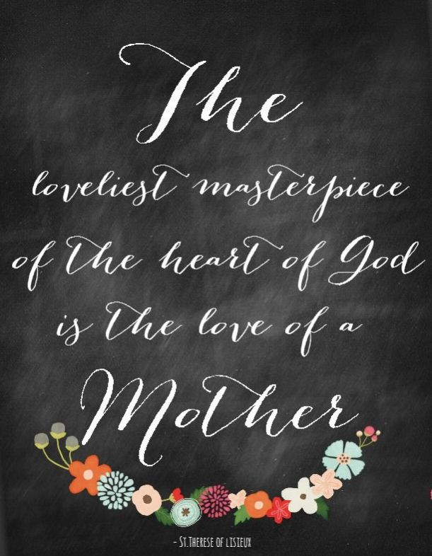 The Loveliest Masterpiece - a Mother's Day Chalkboard Printable