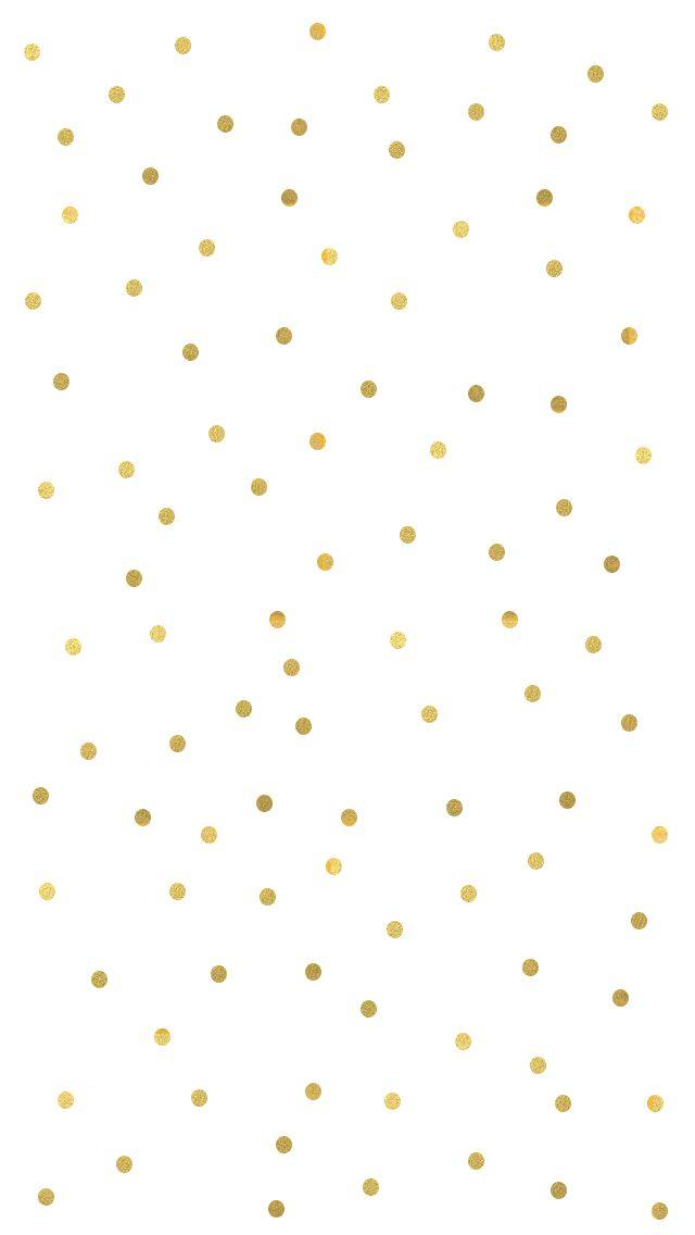 25 Great Ideas About Gold Polka Dot Wallpaper On Pinterest