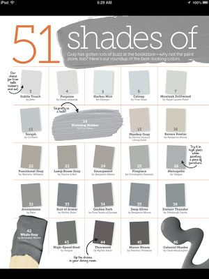 51 Shades of Gray Paint – Part I To