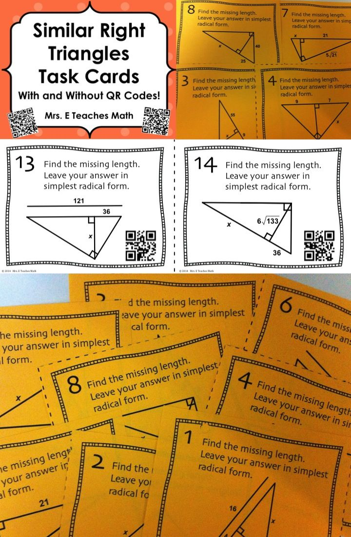 Do Tornadoes Really Twist Task Cards Triangles, Cards
