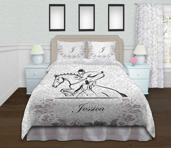 Horse Kid Bedding Dressage Bedding Jumping Duvet Cover
