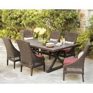 Hampton Bay Model Fcs80198st Belleville 7 Piece Patio Dining Set